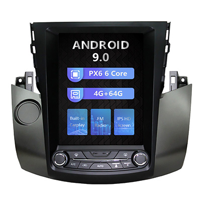 10.4 inch toyota RAV4 tesla style car dvd gps navigation with carplay wifi