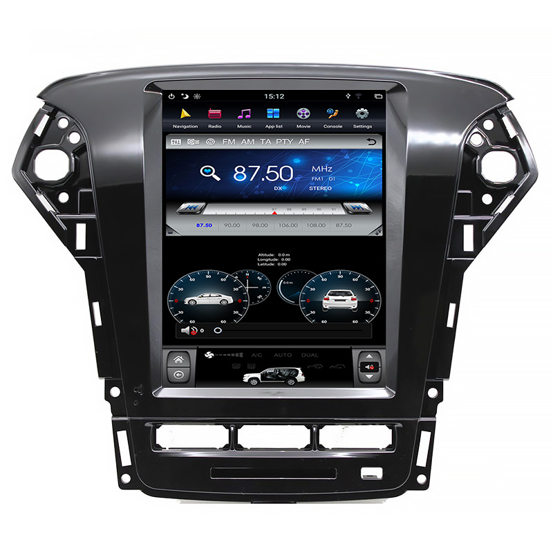 10.4  inch  car audio android ford mondeo 2011-2013 tesla style car dvd player