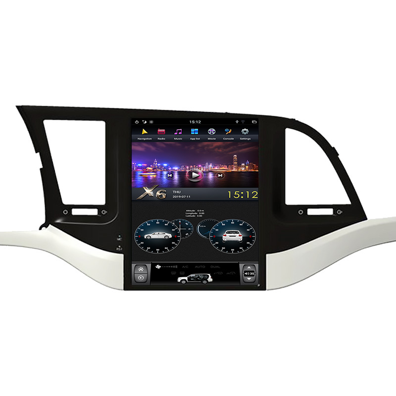 10.4 inch Hyundai Elantra 2018 Tesla style android car dvd player