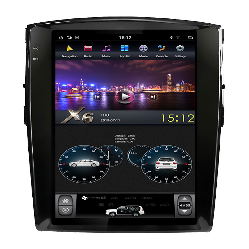 12.1 inch Mitsubishi Pajero  android car dvd player car audio system wifi radio