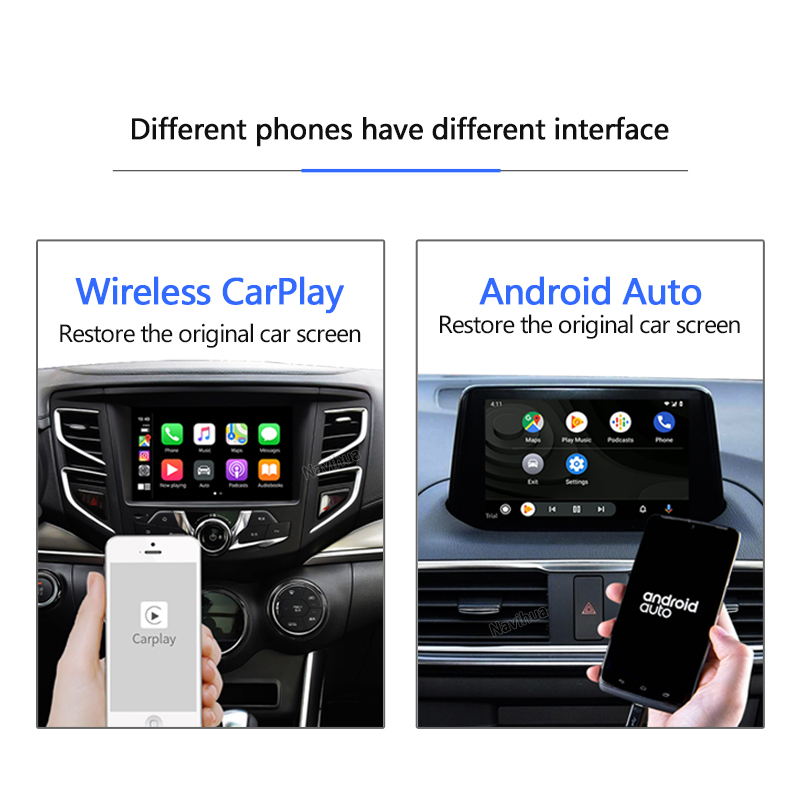 Wireless carplay Dongle for Apple Carplay and android auto connect car Radio